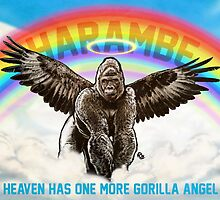 Harambe - Heaven has another Gorilla Angel by James Fosdike