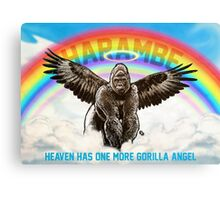 Harambe - Heaven has another Gorilla Angel Canvas Print