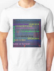 Love Subway Art - Blue tweed Unisex T-Shirt