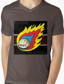 Blazing Volleyball Mens V-Neck T-Shirt