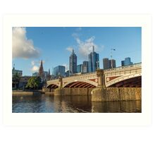 Princes Bridge in Melbourne, Australia Art Print
