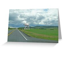 ATAT Walker in a field Greeting Card