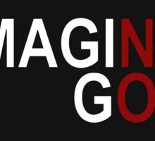 Imagine God Sticker