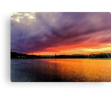 Colorful Sunset in Boston, Ma Canvas Print