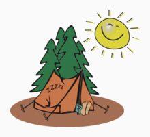 happy sleep camping Kids Tee