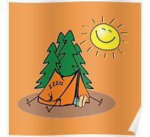 happy sleep camping Poster
