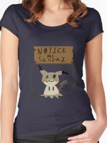 Mimikyu - Notice me senpai Women's Fitted Scoop T-Shirt
