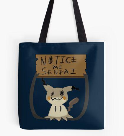 Mimikyu - Notice me senpai Tote Bag