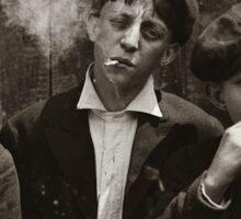 New York Newsies Smoking Cigarettes 1899 Sticker