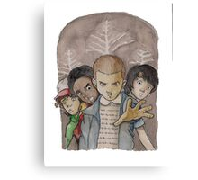 stranger things - tv series netflix Canvas Print