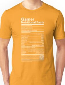 Gamer Nutritional Facts Unisex T-Shirt