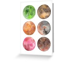 colored planet Greeting Card