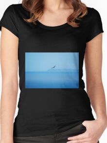 Eagle over the Ocean Women's Fitted Scoop T-Shirt