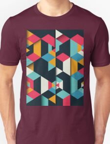 Colorful Polygonal Pattern Background Unisex T-Shirt