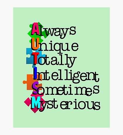 Autism Meaning Photographic Print