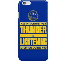 Durant Thunder and Curry Lightening iPhone Case/Skin