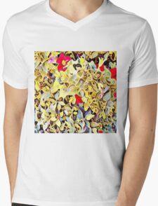 Garden Swirl Mens V-Neck T-Shirt