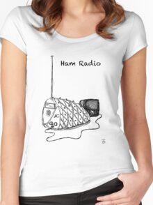 Ham Radio (B&W) Women's Fitted Scoop T-Shirt