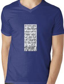 // Bastille Laughter Lines // Mens V-Neck T-Shirt