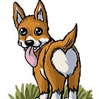 Corgi Heartbutts by Audrey Bocchini Illustrations