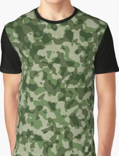 Green Military Camouflage Graphic T-Shirt