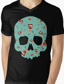 Skull Eyelegs Mens V-Neck T-Shirt