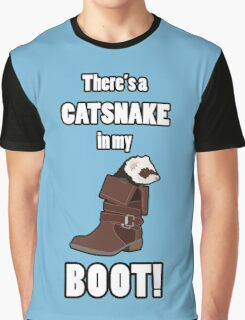 There's a CATSNAKE in my BOOT! Graphic T-Shirt