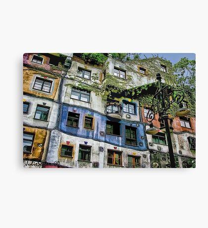 Hundertwasser House Canvas Print