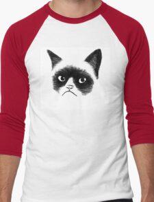 Angry Cat Men's Baseball ¾ T-Shirt