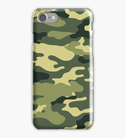 Olive Green Military Camouflage iPhone Case/Skin