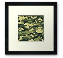 Olive Green Military Camouflage Framed Print