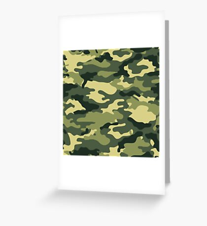 Olive Green Military Camouflage Greeting Card