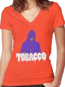 Tobacco  Women's Fitted V-Neck T-Shirt