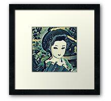 Geisha Waves K1 Framed Print