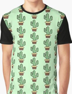 Pixelated Cactus Graphic T-Shirt