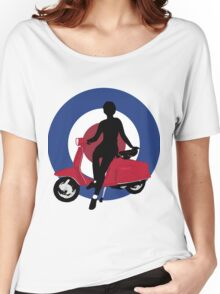 Sixties scooter girl  Women's Relaxed Fit T-Shirt