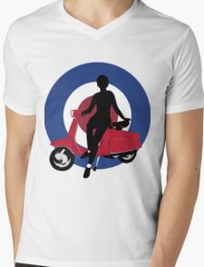 Sixties scooter girl  Mens V-Neck T-Shirt