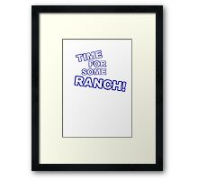 Eric Andre- Time for some ranch  Framed Print