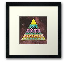 The All Knowing Framed Print