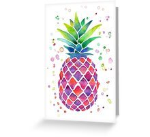 Colourful Watercolour Pineapple! Greeting Card