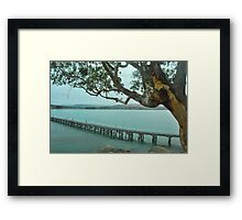 Victor Harbour on a Cloudy day Framed Print