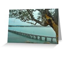 Victor Harbour on a Cloudy day Greeting Card