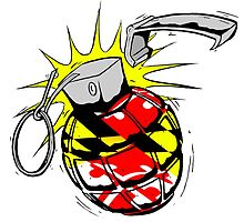 Maryland Flag Grenade by JoeyHawkins