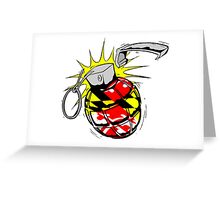 Maryland Flag Grenade Greeting Card