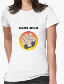 Hand Solo Womens Fitted T-Shirt