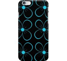 Black and blue flowers iPhone Case/Skin