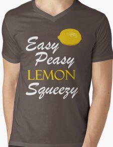 Easy Peasy Lemon Squeezy Mens V-Neck T-Shirt