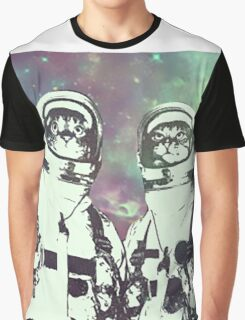 Space Age Catstronauts Graphic T-Shirt