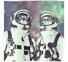 Space Age Catstronauts Poster