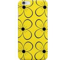 Black and yellow flowers iPhone Case/Skin